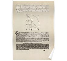 Measurement With Compass Line Leveling Albrecht Dürer or Durer 1525 0165 Repeating and Folding Shapes Poster
