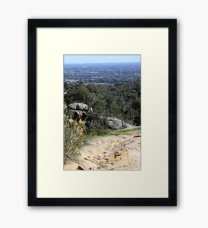 Perfect View from Perth Hills Framed Print