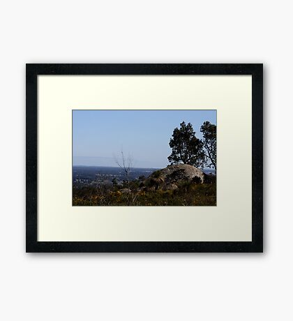 Perfect View from Perth Hills 2 Framed Print