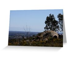 Perfect View from Perth Hills 2 Greeting Card