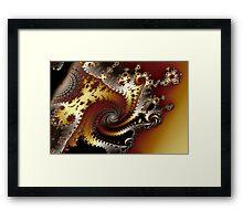 Spirals and Shadows Framed Print