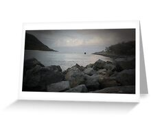 Lonely Fisherman Greeting Card