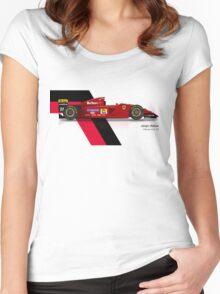 Jean Alesi - Ferrari 412T2 1995 Women's Fitted Scoop T-Shirt