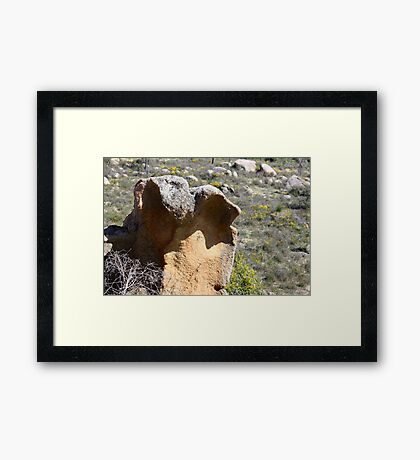 Rocks in them there hills Framed Print