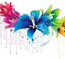 Colourful Flower Vector by fashionera