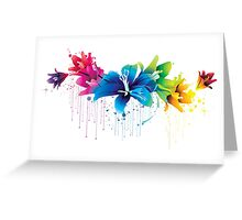 Colourful Flower Vector Greeting Card