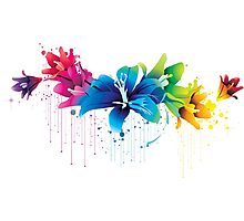 Colourful Flower Vector Photographic Print