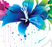 Colourful Flower Vector Sticker