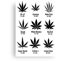 Type Of Weed Canvas Print