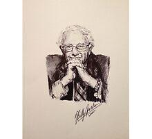 Bernie Sanders Portrait  by Billy Jackson