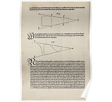 Measurement With Compass Line Leveling Albrecht Dürer or Durer 1525 0170 Repeating and Folding Shapes Perspective Poster