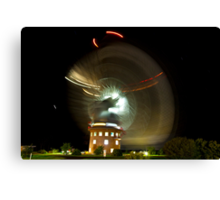 Parkes Dish at Night on the move Canvas Print