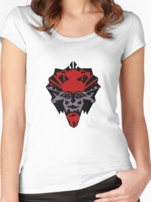 Cheerful devil....... Women's Fitted Scoop T-Shirt