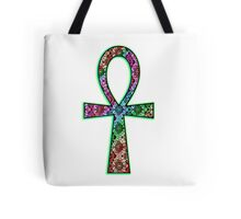 Ankh Psychedelic Tote Bag