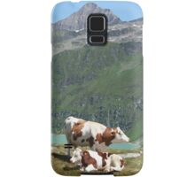 Dairy Cows High Up On A Mountain Samsung Galaxy Case/Skin
