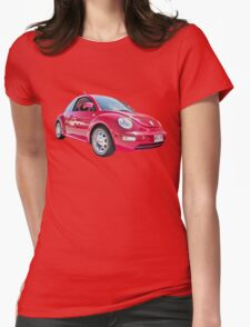 Red Volkswagen New Beetle  Womens Fitted T-Shirt