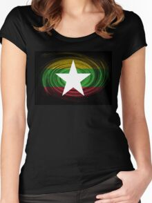 Myanmar Twirl Women's Fitted Scoop T-Shirt