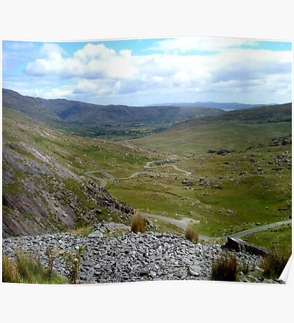The Healy Pass.. Co. Cork, Ireland... Poster