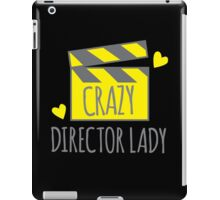 Crazy Director Lady with film board iPad Case/Skin