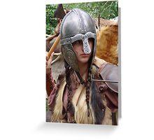 Dark Age Viking Warrior Woman Greeting Card
