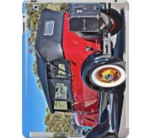 Red Model A Ford with white walls and yellow wire wheels iPad Case/Skin