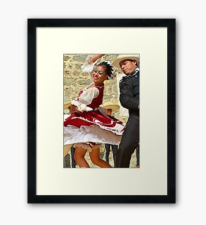Mexican Dancers Framed Print
