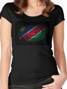Namibia Twirl Women's Fitted Scoop T-Shirt