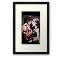 Rogue and Gambit Framed Print