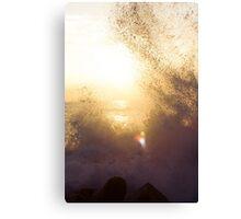 Sun shining through the waves Canvas Print