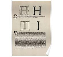 Measurement With Compass Line Leveling Albrecht Dürer or Durer 1525 0121 Alphabet Letters Calligraphy Font Poster