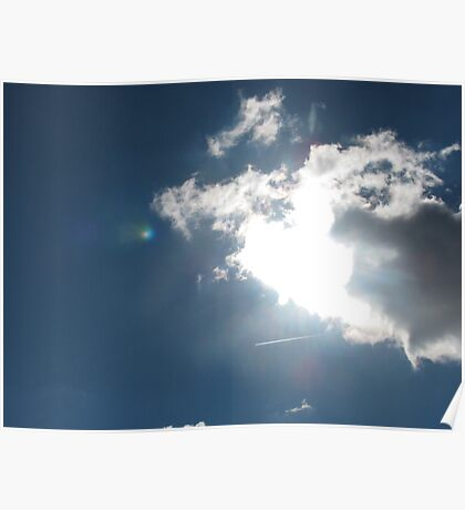 Bright and Cloudy Skies Poster
