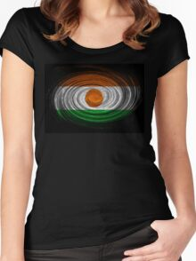 Niger Twirl Women's Fitted Scoop T-Shirt