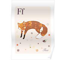 alphabet poster - fox Poster