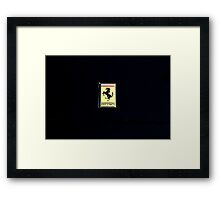 Ferrari Emblem Framed Print