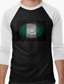 Nigeria Twirl Men's Baseball ¾ T-Shirt