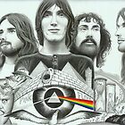 Pink Floyd Collage Drawing by JBPhotographs