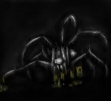 Undead Fungus Spider by wildernessa