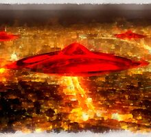 Martian Invasion by Raphael Terra by esotericaart