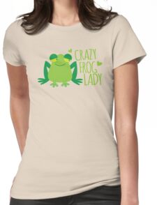 Crazy Frog Lady (New)  Womens Fitted T-Shirt