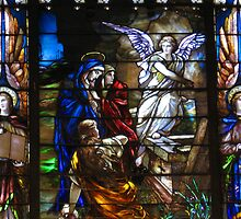 Jesus Has Risen Stained Glass by Terry Aldhizer