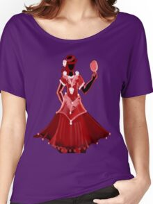 Red Dress with rose Women's Relaxed Fit T-Shirt