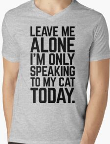 Speaking To My Cat Funny Quote Mens V-Neck T-Shirt