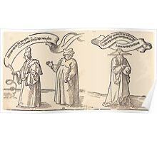 Albrecht Dürer or Durer The Teacher, the Clergyman, and Providence Poster