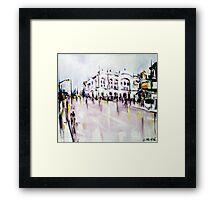 City street scene landscape Framed Print