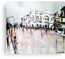 City street scene landscape Canvas Print