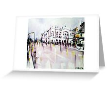 City street scene landscape Greeting Card