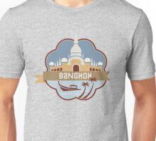 Bangkok Thailand Retro Badge Unisex T-Shirt