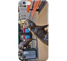 Rundle Mall Pigs at night. iPhone Case/Skin