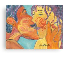 Kiss, Exchange of the Souls Canvas Print