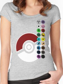 Pokemon Pokeball Energy Complete  Women's Fitted Scoop T-Shirt